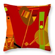 Shapes And Patterns In Red Throw Pillow