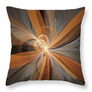 Shapes Of Fantasy Flowers Throw Pillow
