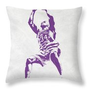 Shaquille O'neal Los Angeles Lakers Pixel Art Throw Pillow