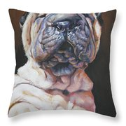 Shar Pei Pup Throw Pillow