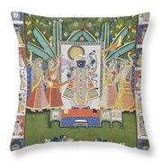 Sharad Utsav - V Throw Pillow