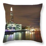Shard From Tower Bridge London Throw Pillow