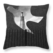 Shard From Wapping Memorial Throw Pillow