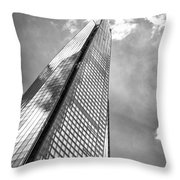 Shard, London In Black And White  Throw Pillow
