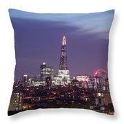 Shard Oxo Tower London Eye Walkie Talkie From Balfron Tower Throw Pillow