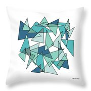 Shards Of Blue Throw Pillow