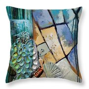 Shards Water Clay And Fire Throw Pillow