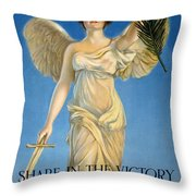 Share In The Victory. Save For Your Country Throw Pillow