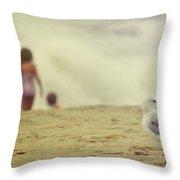 Share The Beach  Throw Pillow