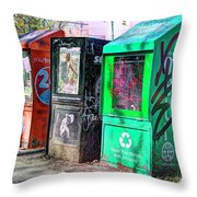 Share Your Metro With A Friend Throw Pillow