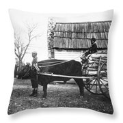 Sharecroppers, C1890 Throw Pillow