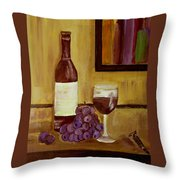 Sharing A Glass Throw Pillow