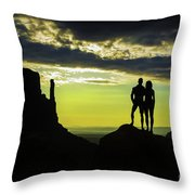 Sharing A Monument Valley Sunrise Throw Pillow