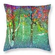 Sharing Colours And Dreams Throw Pillow