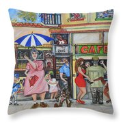 Sharing -compartiendo Throw Pillow