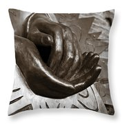 Sharing Hands Throw Pillow