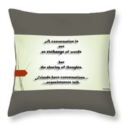 Sharing Of Thoughts Throw Pillow