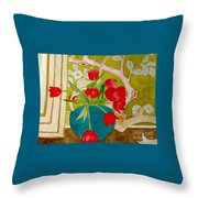 Sharing The Limelight Throw Pillow