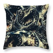 Shark Jaws Throw Pillow