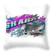 Shark Life Pink Lemon Shark Throw Pillow