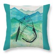 Shark Mountain  Throw Pillow