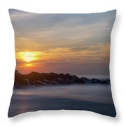 Shark River Inlet Bug Light Throw Pillow