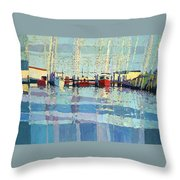 Shark River Inlet Throw Pillow