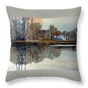 Shark River Reflections Throw Pillow