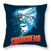 Sharknemo Throw Pillow