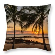 Sharks Cove Sunset 4 - Oahu Hawaii Throw Pillow