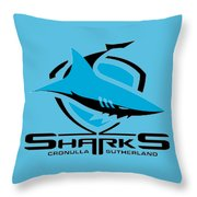Sharks Cronulla Sutherland Throw Pillow