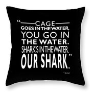 Sharks In The Water Throw Pillow