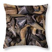 Sharks Teeth 8 Throw Pillow
