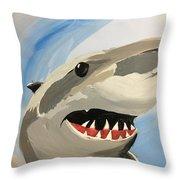 Sharky Grin Throw Pillow