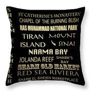 Sharm El-sheikh Famous Landmarks Throw Pillow