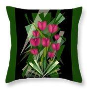 Sharp Blades Of Tulips  Throw Pillow