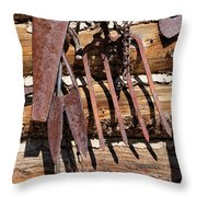 Sharp Rusty Objects Throw Pillow