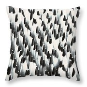 Sharp Wooden Pencils Throw Pillow