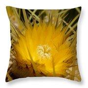 Sharp Yellow Throw Pillow