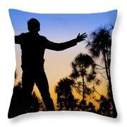 Sharukh Pose Throw Pillow