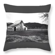 Shasta Barn Throw Pillow by Kathy Yates