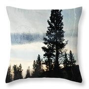 Shasta Trinity National Forest Sunrise Portrait Throw Pillow