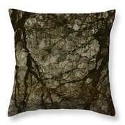 Shattered Forest Throw Pillow