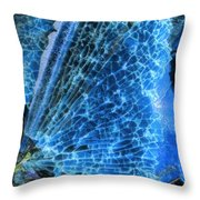 Shattered I Throw Pillow