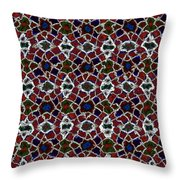 Shattered Jewels Throw Pillow