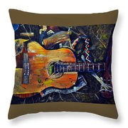 Shattered Melody Throw Pillow