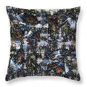 Shattered Patterns Throw Pillow