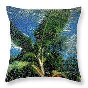 Shattered Plant Throw Pillow