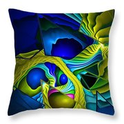 Shattered Visions. Throw Pillow