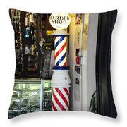 Shave And A Haircut Throw Pillow